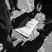 Gegenproteste am Rande der rassistischen Aufmärsche in Marzahn-Hellersdorf (2014)