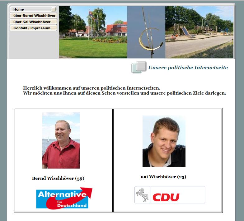 gemeinsamer Online-Wahlkampf von Bernd Wischhöver (AfD) und Sohn Kai (CDU)